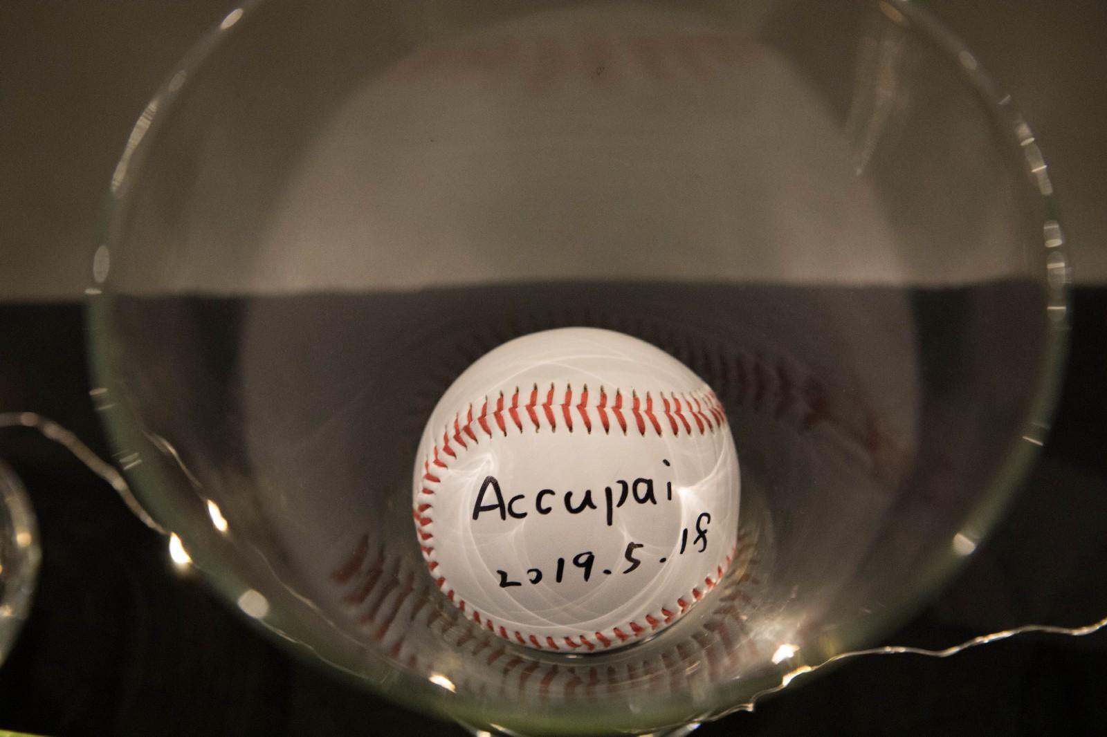 Accupai 雲攝影參加 PitchCamp 2019 的簽名棒球